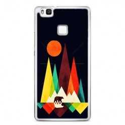 Etui na telefon Huawei P9 Lite - zachód słońca, abstract.