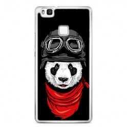 Etui na telefon Huawei P9 Lite - panda w czapce.