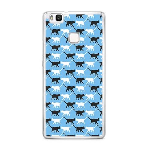 Etui na telefon Huawei P9 Lite - kotki pattern.