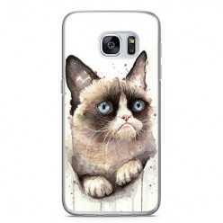 Etui na telefon Samsung Galaxy S7 - kot zrzęda watercolor.