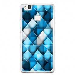 Etui na telefon Huawei P9 Lite - niebieskie rąby.