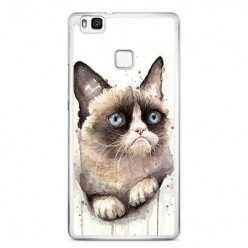 Etui na telefon Huawei P9 Lite - kot zrzęda watercolor.