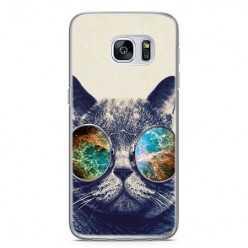 Etui na telefon Samsung Galaxy S7 - kot hipster w okularach.