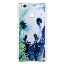 Etui na telefon Huawei P9 Lite - miś panda watercolor.