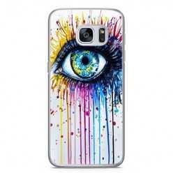 Etui na telefon Samsung Galaxy S7 - kolorowe oko watercolor.