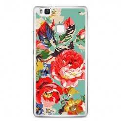 Etui na telefon Huawei P9 Lite - kolorowe róże.