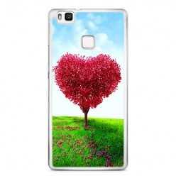Etui na telefon Huawei P9 Lite - serce z drzewa.