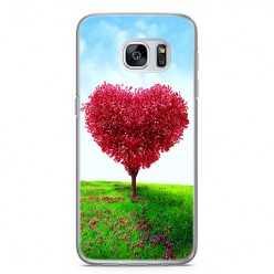 Etui na telefon Samsung Galaxy S7 - serce z drzewa.