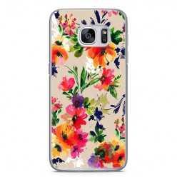 Etui na telefon Samsung Galaxy S7 - kolorowe kwiaty.