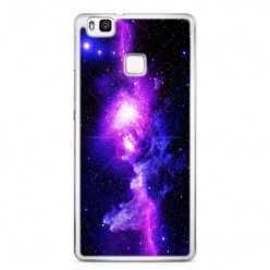 Etui na telefon Huawei P9 Lite - fioletowa galaktyka.
