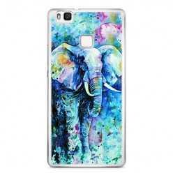 Etui na telefon Huawei P9 Lite - kolorowy słoń.