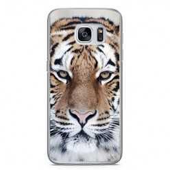Etui na telefon Samsung Galaxy S7 - biały tygrys.