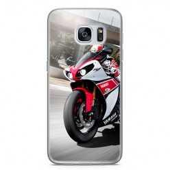 Etui na telefon Samsung Galaxy S7 - motocykl ścigacz.
