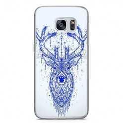 Etui na telefon Samsung Galaxy S7 - niebieski jeleń.