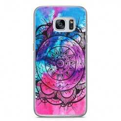 Etui na telefon Samsung Galaxy S7 - rozeta watercolor.
