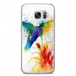 Etui na telefon Samsung Galaxy S7 - niebieski koliber watercolor.
