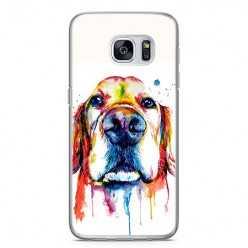Etui na telefon Samsung Galaxy S7 - pies labrador watercolor.