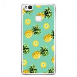 Etui na telefon Huawei P9 Lite - żółte ananasy.