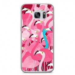 Etui na telefon Samsung Galaxy S7 - różowe ptaki flaming.