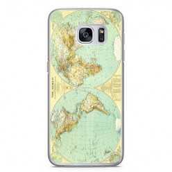 Etui na telefon Samsung Galaxy S7 - mapa świata.