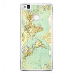 Etui na telefon Huawei P9 Lite - mapa świata.