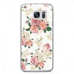 Etui na telefon Samsung Galaxy S7 - kolorowe polne kwiaty.