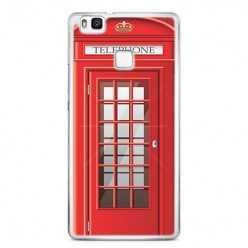 Etui na telefon Huawei P9 Lite - czerwona budka telefoniczna.