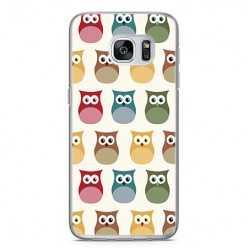Etui na telefon Samsung Galaxy S7 - kolorowe sowy.