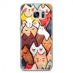 Etui na telefon Samsung Galaxy S7 - kolorowe kotki.