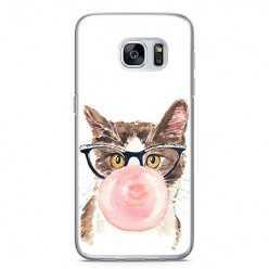 Etui na telefon Samsung Galaxy S7 - kot z gumą balonową.