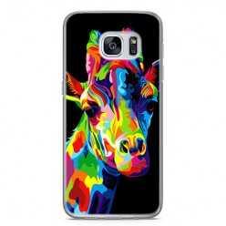 Etui na telefon Samsung Galaxy S7 Edge - kolorowa żyrafa.