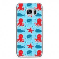 Etui na telefon Samsung Galaxy S7 Edge - morskie zwierzaki.
