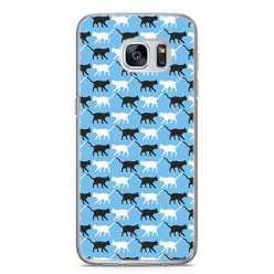 Etui na telefon Samsung Galaxy S7 Edge - kotki pattern.