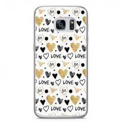 Etui na telefon Samsung Galaxy S7 Edge - serduszka Love.