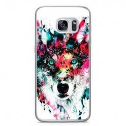 Etui na telefon Samsung Galaxy S7 Edge - głowa wilka watercolor.