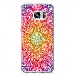 Etui na telefon Samsung Galaxy S7 Edge - kolorowa rozeta.