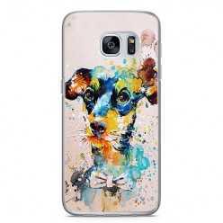 Etui na telefon Samsung Galaxy S7 Edge - szczeniak watercolor.