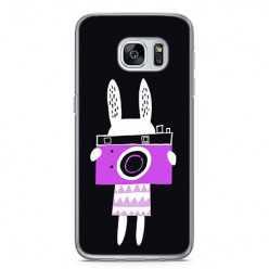 Etui na telefon Samsung Galaxy S7 Edge - królik z aparatem.