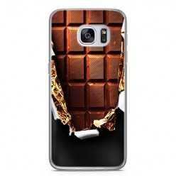 Etui na telefon Samsung Galaxy S7 Edge - tabliczka czekolady.