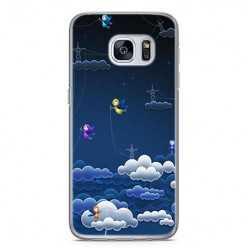 Etui na telefon Samsung Galaxy S7 Edge - podniebne aniołki.