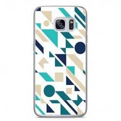 Etui na telefon Samsung Galaxy S7 Edge - figury płaskie geometryczne.