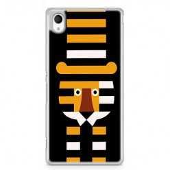 Etui na telefon Sony Xperia XA - pasiasty tygrys.