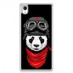 Etui na telefon Sony Xperia XA - panda w czapce.