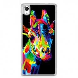 Etui na telefon Sony Xperia XA - kolorowa żyrafa.