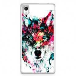 Etui na telefon Sony Xperia XA - głowa wilka watercolor.