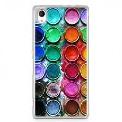 Etui na telefon Sony Xperia XA - kolorowe farbki plakatowe.