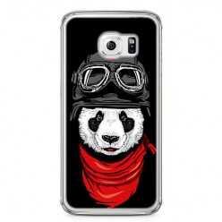 Etui na telefon Samsung Galaxy S6 - panda w czapce.