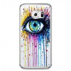 Etui na telefon Samsung Galaxy S6 - kolorowe oko watercolor.