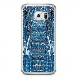 Etui na telefon Samsung Galaxy S6 - niebieski słoń.