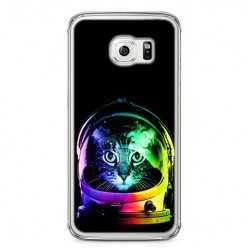 Etui na telefon Samsung Galaxy S6 - kot kosmonauta.